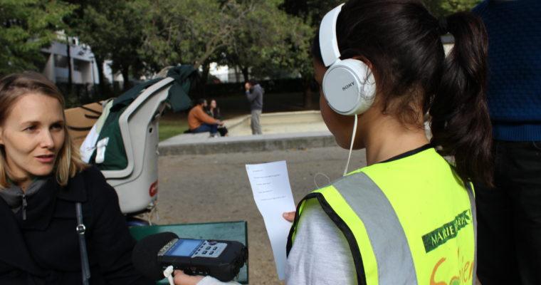 Balade sonore des Amandiers : les enfants enquêtent à La Banane