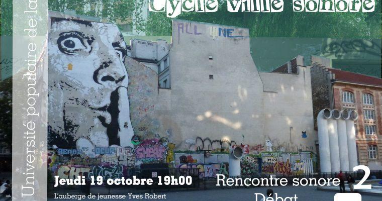 Université populaire de la ville : rencontre sonore le 19 octobre