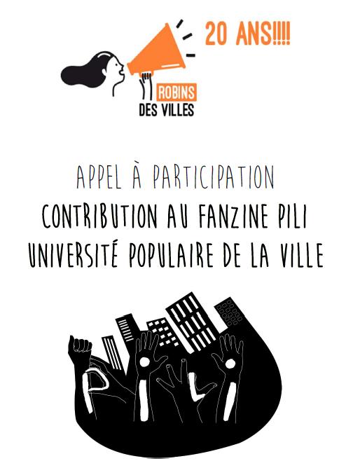 """Appel à contribution au fanzine PILI – thème """"Ville sauvage"""""""