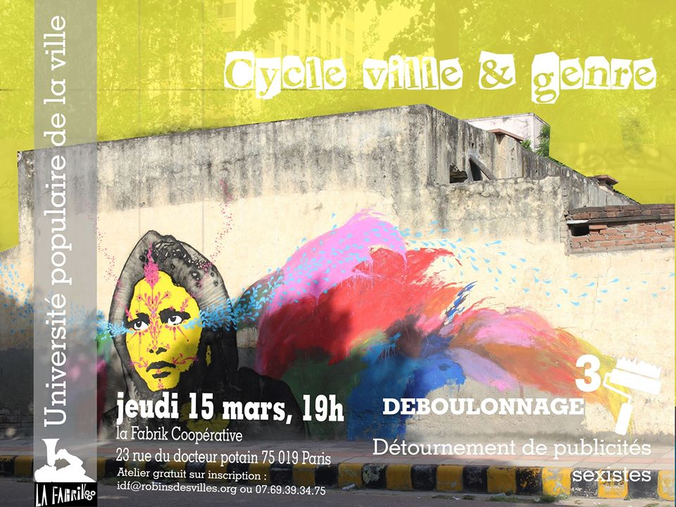 UPOVI Ville et Genre: les Robin.e.s détournent des affiches sexistes avec la Brigade Antisexiste