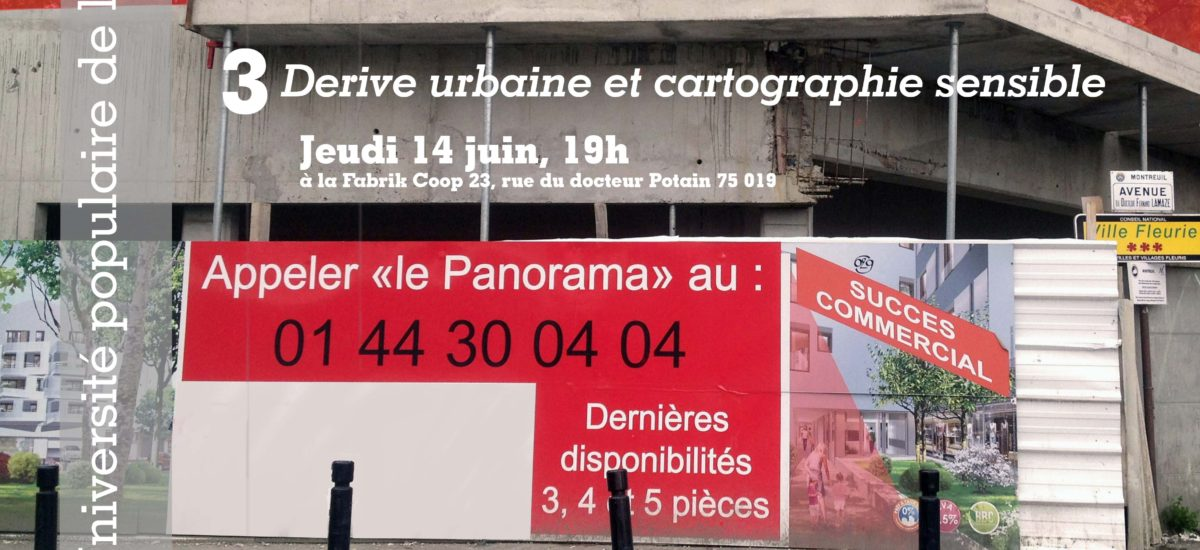 Dérive urbaine et cartographie sensible du quartier Compans-Pelleport-Place des Fêtes
